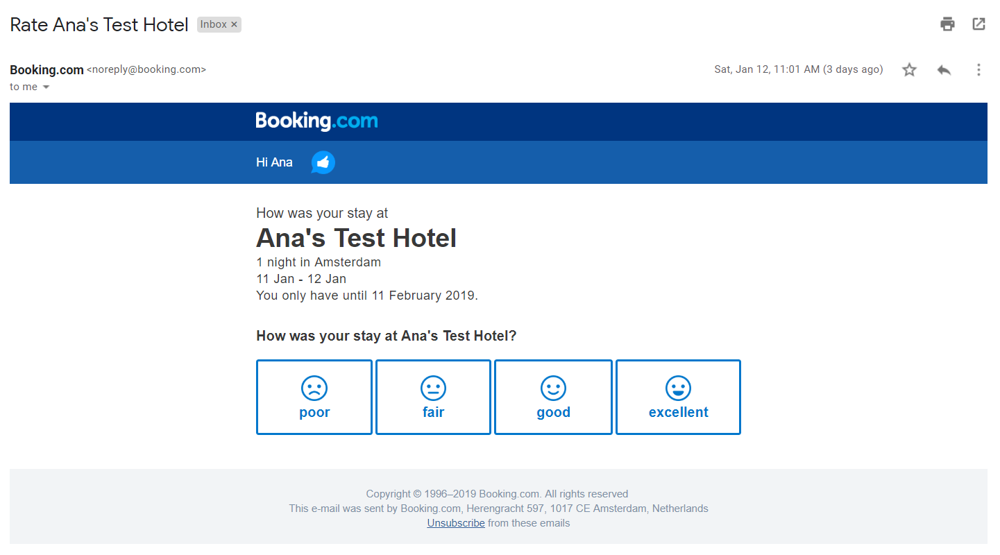 Self-assessment tutorial - Booking com Connectivity API